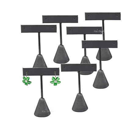 "Lot Of 12 Steel Gray Earring Display Stand Earring Tree 5 3/4""h Earring Stand"