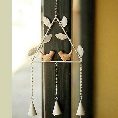 New Metal Wind Chime with Birds Ornament Aeolian Bells Home Garden Decor