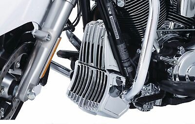 Kuryakyn Chrome Precision Oil Cooler Cover Trim Accent Harley Touring Bagger 17+