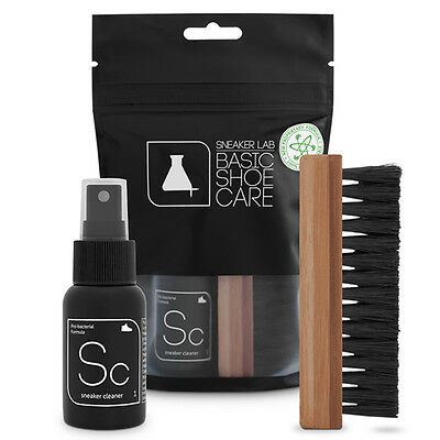 SNEAKER LAB Basic Kit Sneaker Shoe Cleaner And Brush NEW