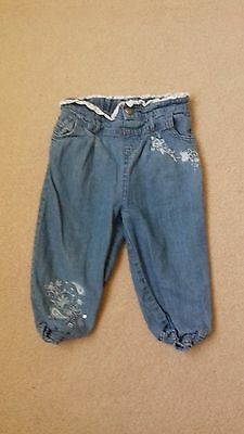 Baby Girl Mamas&Papas Jeans Age 12/18 Months