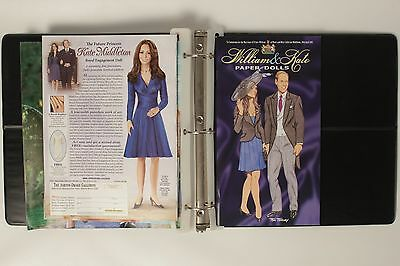 Prince William and Kate Middleton Wedding Special Editions Paper dolls Binder