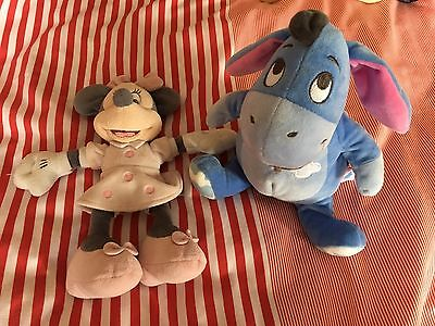 Disney Store Minnie Mouse Rattle And Posh Paws Eeyore Plush Soft Toy