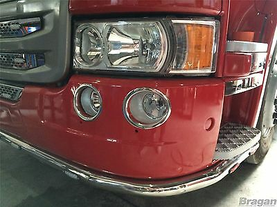 To Fit Scania P G R R 2009+ 6 Series Fog Lamp Chrome Trims Surround