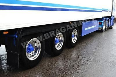To Fit Volvo DAF Scania Man Iveco Trailer Wheel Trims Covers Sleeve x 6 Alloy