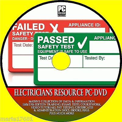 Electricians Resource 17Th Edition Guides Certs Pat Testing Tutorials Dvd Rom