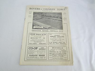 1950-51 DIV 2 DONCASTER ROVERS v GRIMSBY TOWN