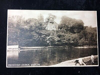 Postcard Protestant Church Co Wicklow Antique 1905 Posted Valentine