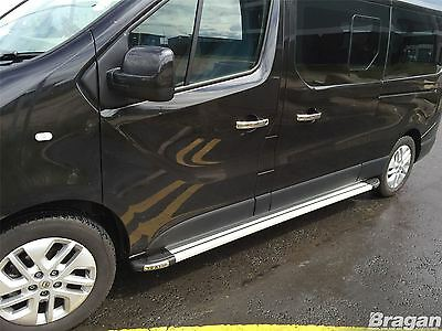 To Fit 14+ Renault Trafic SWB Polished Aluminium Side Step Running Boards Silver