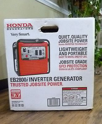 ~NEW~ Honda EB2800i Portable Industrial Inverter Generator 2800 Watts EB2800iA