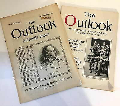Vintage/Antique Magazines, Set of 2, The Outlook, Feb. 29, 1896 and March 24, 19