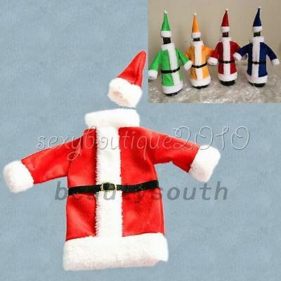 Santa Claus Wine Bottle Cover Gift Christmas Table Party Bag Decor Christmas