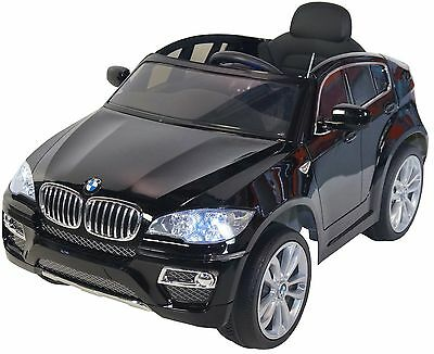 BMW X6 Style 12v Battery Powered Electric Ride On Kids Toy Car Remote RC Black