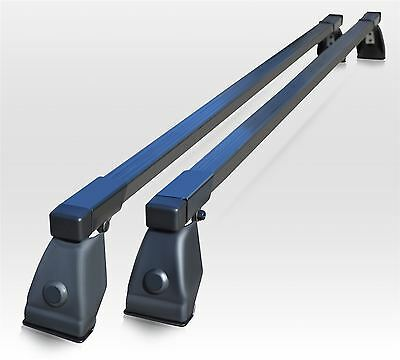 To Fit 2010+ Fiat Doblo Roof Rack Van Bars Metal 2 Black Bars Rails Ladder Box