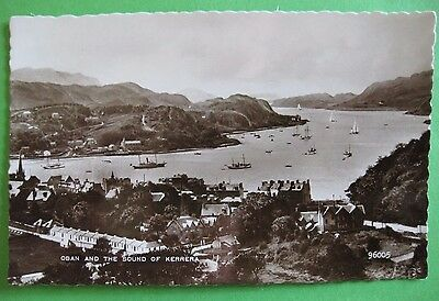 Shipping in the Sound of Kerrera Oban Real Photo Postcard by Valentine's 96005