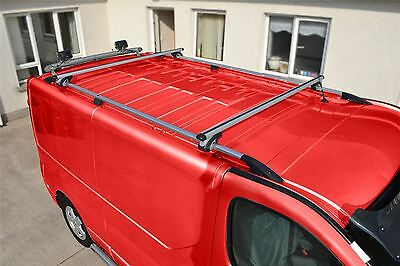 To Fit 02 - 14 Opel Vauxhall Vivaro LWB Aluminium Roof Rails Bar + Cross Bars