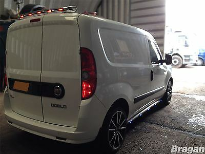 To Fit 2010+ Fiat Doblo Stainless Steel Chrome Rear Roof Top Light Bar + LEDs