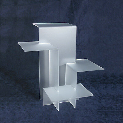 4-Tier RISER SHOWCASE DISPLAY TRADE SHOW JEWELRY DISPLAYS Frosted RISER SET