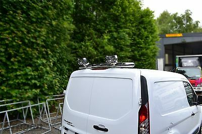 To Fit 14+ Ford Transit Tourneo Connect Rear Roof Top Light Bar + 5 LED + Spots