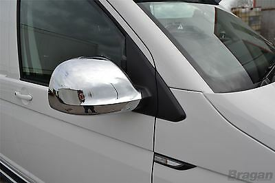 To Fit 10-15 Volkswagen T5 Transporter Caravelle ABS Shiny Chrome Mirror Covers