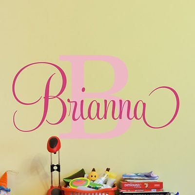 Decal Decor Kids Girls Sticker Personalized Name Nursery Bedroom Vinyl Wall