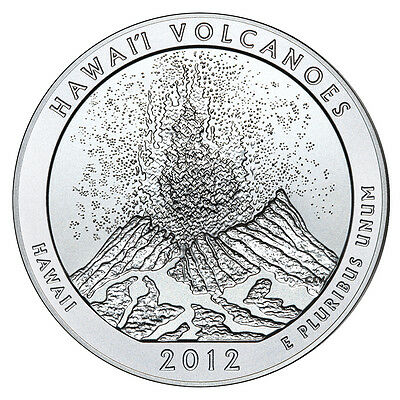 2012 5 oz Silver ATB coin - (Hawaii Volcano) - Bullion Issue NEW LOW PRICE