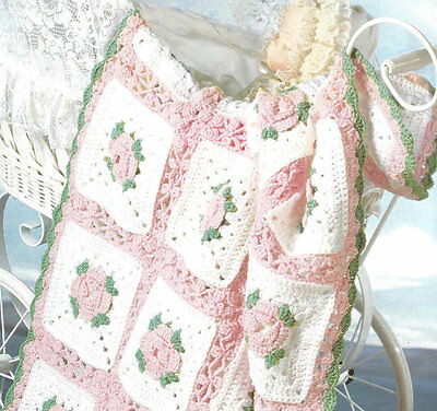 Baby AFGHAN  Crochet Pattern Shawl in 8 ply