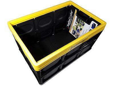InstaCrate 12 Gallon Instant Storage Greenmade USA Folds Flat Bin - Yellow