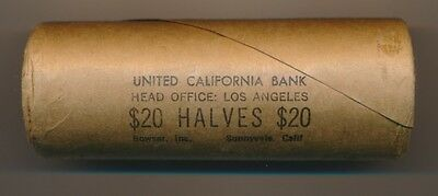 $20.00 Original Bank Wrapped 1965 Kennedy Silver Half Dollar Roll Of 40 Coins