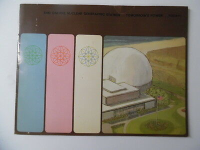 1968 SAN ONOFRE NUCLEAR GENERATING STATION Power Plant Brochure SoCal Edison