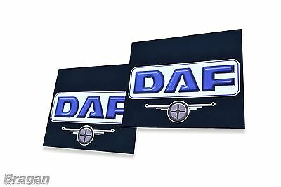 To Fit DAF Truck 2pc Pair UV Rubber Rear Mudflap Mudguards Mud Flaps 60x50cm