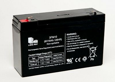 6 Volt 10 AH Rechargeable Sealed Lead Acid Battery