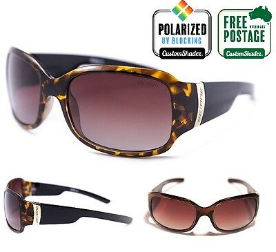 Polarised Womens Sunglasses - BE:ONE EYEWEAR - Brown Oval Frame / Polarized Lens
