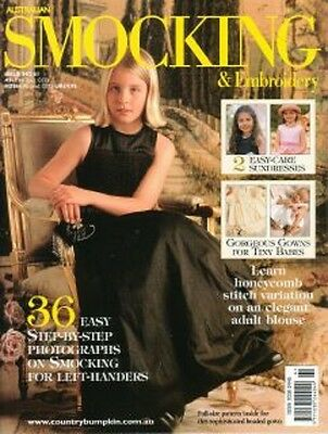 Australian Smocking & Embroidery Issue 61  Multi-size Patterns Christening Gown