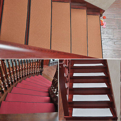 New Stair Mat Summer Home Stair Treads Carpet Simple Rectangle Step Rug Pad 1PC