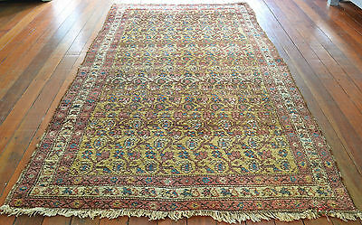Superb Antique Hamadan Kurd Pile Rug West Persia C1910