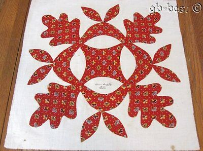 Important Album Applique QUILT Block Antique Philadelphia 1845 Susan Quigley