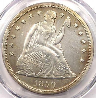 1850-O Seated Liberty Silver Dollar $1 - PCGS AU Details - Rare Date Coin!