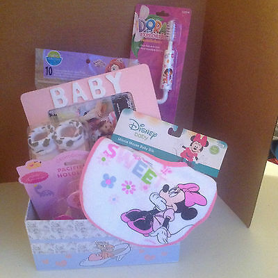 Welcome New Baby Girl! Baby Shower Gift Basket
