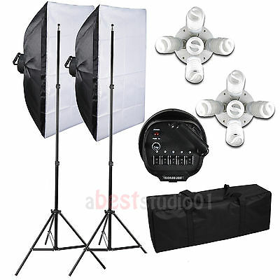 Photography Studio 2250W Soft Box Continuous Lighting Softbox Light Stand Kit