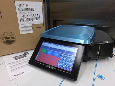 NEW Hobart HTi-7LH Meat Deli HT Counter Scale With Printer, Grocery Seafood POS