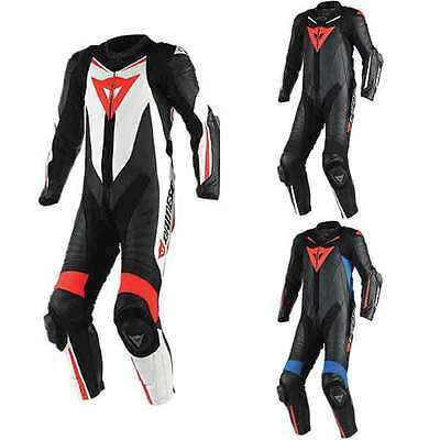Dainese Laguna Seca D1 Motorcycle One Piece Leather Suit All Colours & Sizes