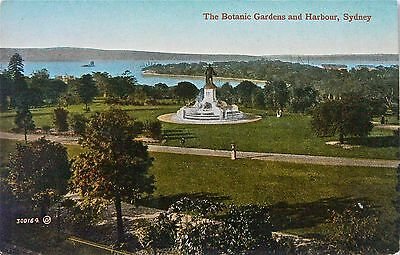 Postcard:australia.sydney Botanic Gardens And Harbour.hand Coloured Early Card