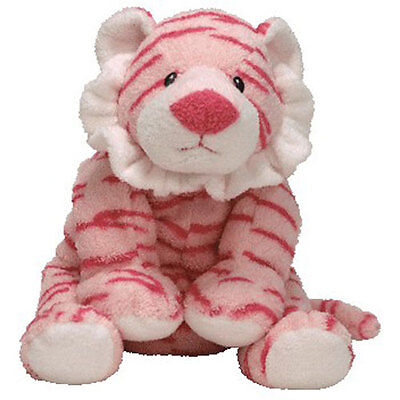 Baby TY - BABY GROWLERS PINK the Tiger (10 inch) - MWMTs BabyTy Soft Toy