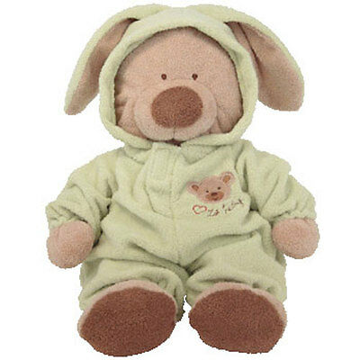 Baby TY - PJ BEAR (Green) (Large w/ Removable PJ's - 16 Inches) - MWMTs BabyTy