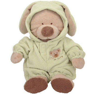 Baby TY - PJ BEAR (Green) (Medium w/ Removable PJ's - 12 Inches) - MWMTs BabyTy