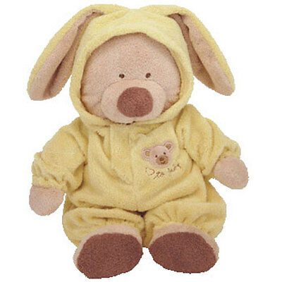Baby TY - PJ BEAR (Yellow) (Medium w/ Removable PJ's - 12 Inches) - MWMTs BabyTy
