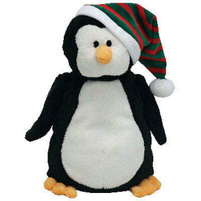 TY Pluffies - FREEZE the Penguin (9.5 inch) - MWMTs Stuffed Soft Toy