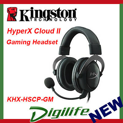 Kingston HyperX Cloud II 7.1 Surround Sound Gaming Headset Gunmetal - Gun Metal