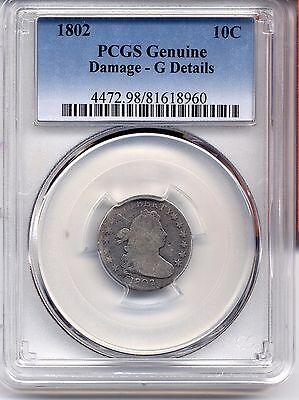 1802 Draped Bust Dime Pcgs G Good Coin Coins Original Nice Key